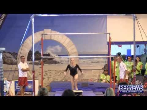 Isle of Man Gymnasts On Bars, July 16 2013
