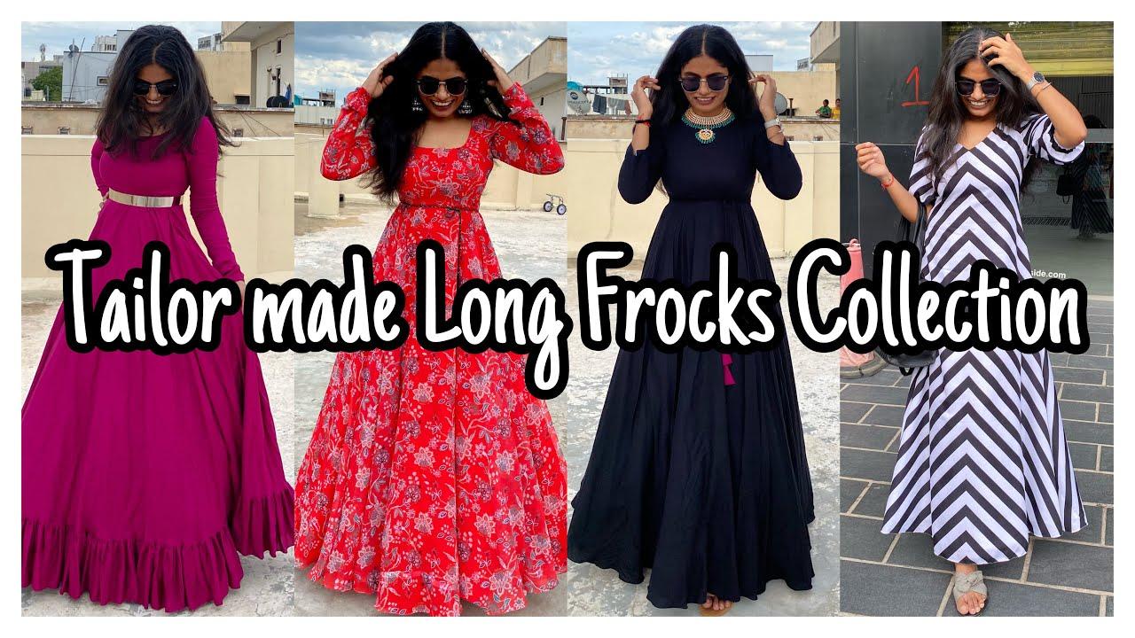 Tailor Made Long Frocks Collection   Designer dresses   nayalooks   Navya Varma