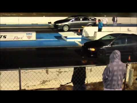 92 Honda Civic Burnout vs stock 2009 Mitsubishi Lancer GTS