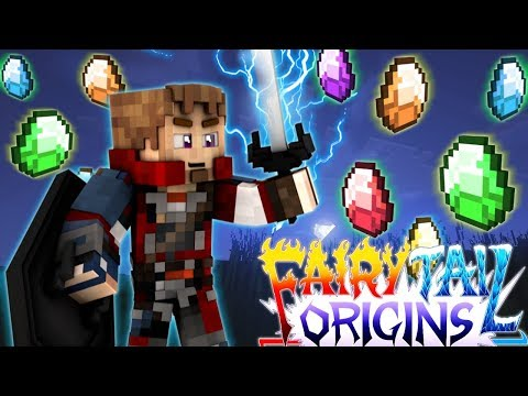 Minecraft Fairy Tail Origins #41 GEM MAGIC GOD SHIELD! Minecraft Modded Roleplay S3E41