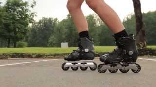Как научиться кататься на роликах. Первые элементы на роликах. Монолайн Урок 3. 1-ый Сезон(, 2013-07-26T20:48:56.000Z)