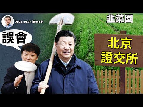 习近平宣布开办北京证券交易所,胡锡进「造反」;左右互搏?路线斗争?原来是这个原因(文昭谈古论今20210903第981期)