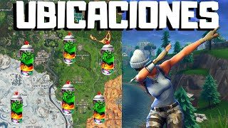 Find the *BOTES* of SPRAY PERDIDOS (LOCATIONS) Fortnite Season X