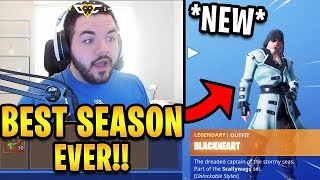 Courage Reacts to NEW *FULL* Season 8 Battle Pass! (Skins, Emotes & More!) | Fortnite Highlights