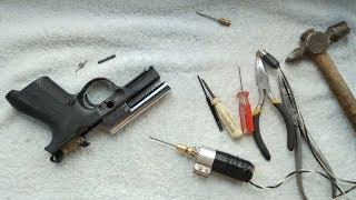 Переделка Стартового Пистолета СВЕРЛЕНИЕ СТВОЛА и Замена Полуштифтов CARRERA RS 30