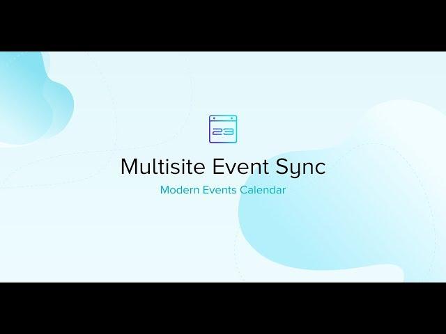 Multisite Event Sync
