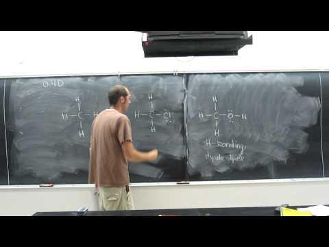Intermolecular Forces - Dispersion (London) Forces, Dipole-Dipole Forces, Hydrogen Bonding 001