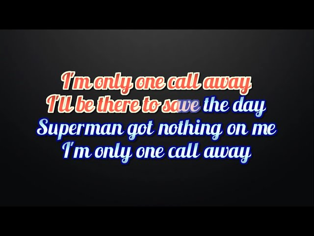 Piano piano chords of one call away : Charlie Puth One Call Away Lyrics and Karaoke video - YouTube