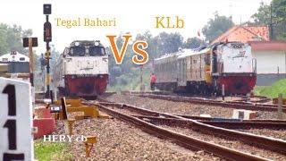 """langka""""Balapan Kereta Api Tegal Bahari vs KA Nr penolong"""