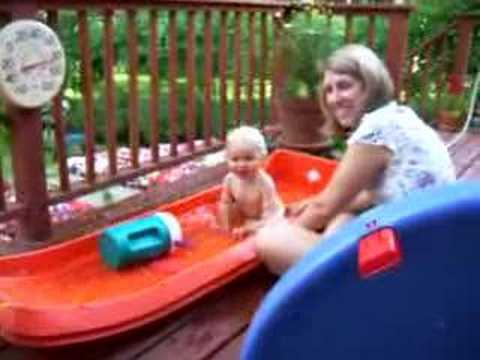 Swimming in the sled pool