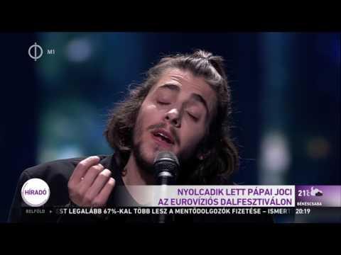 Nyolcadik lett Pápai Joci az Eurovíziós Dalfesztiválon -  M1 Híradó Este   (2017.05.14 19:30)