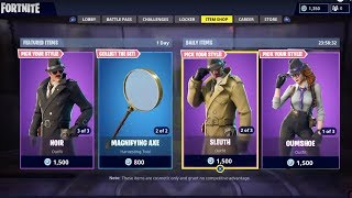 FORTNITE NEW HARDBOILED DETECTIVE SKINS AND ITEMS! JULY 2ND ITEM SHOP UPDATE!