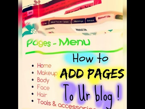 How to organise your blog posts into pages in blogger (New!)