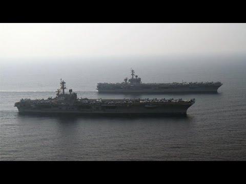 Carl Vinson and George H.W. Bush Strike Groups Turn Over in 5th Fleet (HL22)
