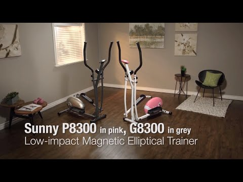 Sunny Health & Fitness P8300 Pink Magnetic Elliptical Trainer