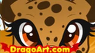 How Draw Cheetah Kids Cheetah Step Step