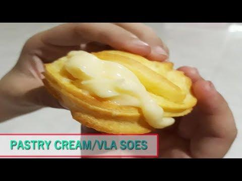 Resep Cara Membuat Vla Bahan Isian Kue Sus, Eclair, Pie Buah / Pastry