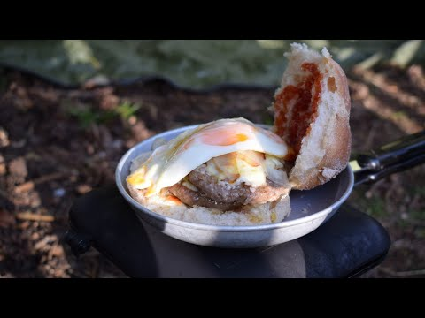Bushcraft Cooking. Bushcraft Burger And A Brew.  Outdoor Cooking. One Tigris Backwoods Bungalow