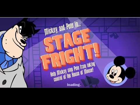 Mickey Mouse Game   - Mickey And Pete In Stage Fright - Watch Out For Pete's Magical Trap Doors