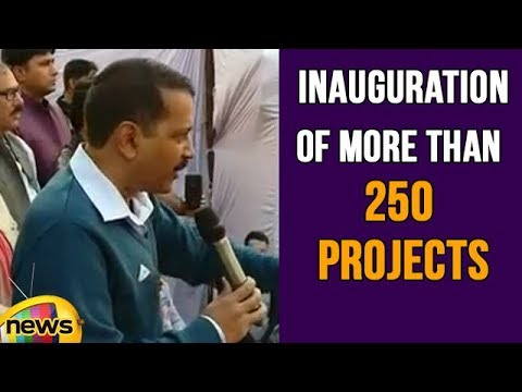 Delhi CM Arvind Kejriwal at Mundka, Inauguration of More Than 250 Projects in Unauthorized Colonies