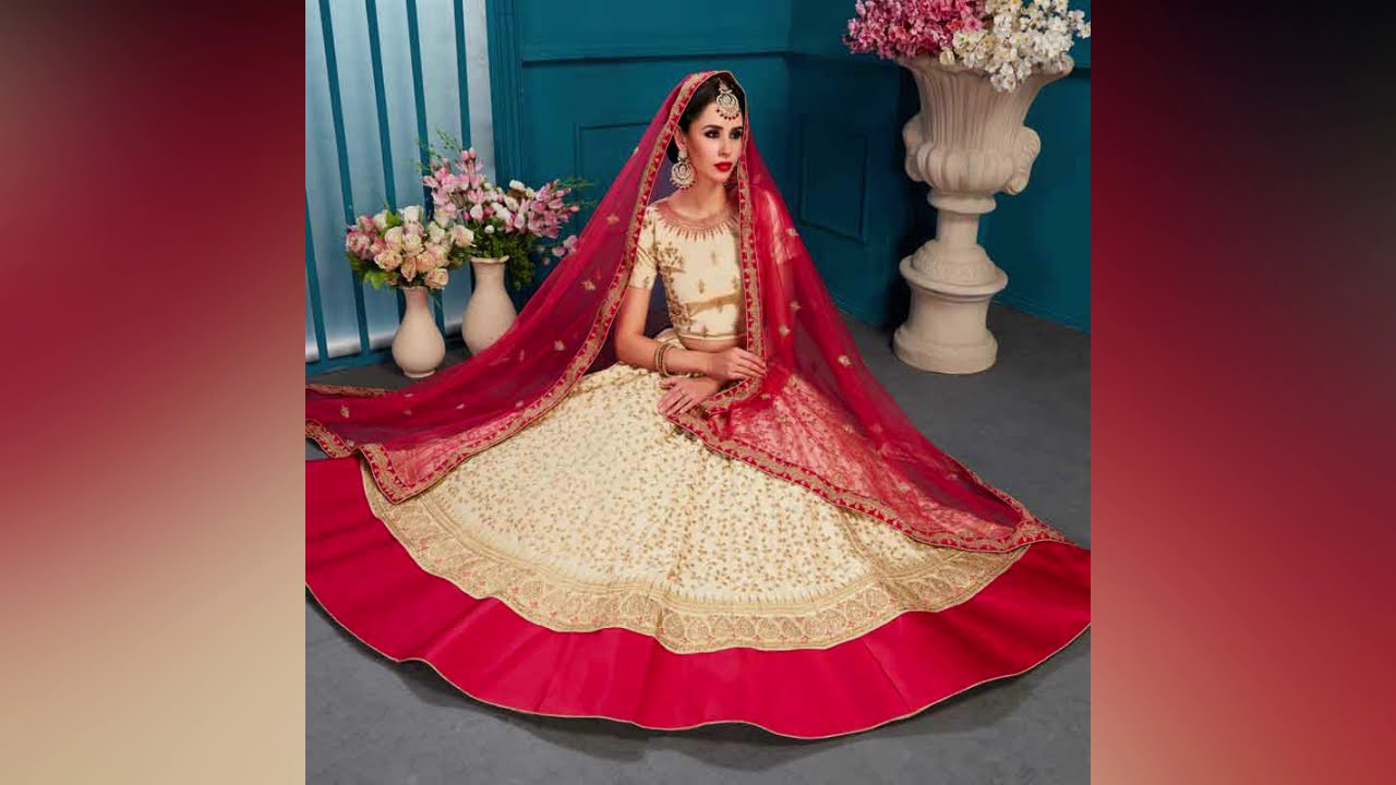 153b3cb1f8fa81 Zara vol 2 Bridal Lehenga design 2019   Gunj Fashion Surat Wholesale ...