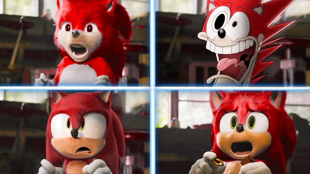 Sonic Red The Hedgehog Movie Choose Favorite Design Uh Meow Meow Youtube