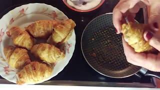 croissants rellenos,  Stuffed croissants