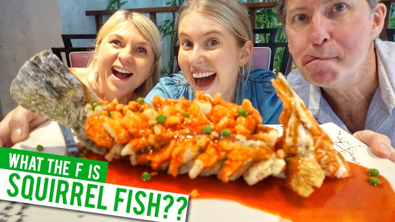 We tried SQUIRREL FISH! It's equally weird and delicious.