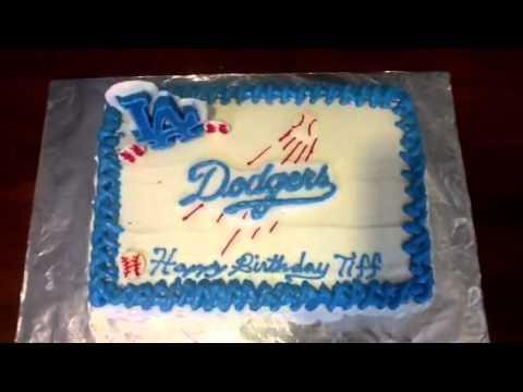 Los Angeles Dodgers birthday cake YouTube