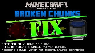 HOW TO FIX | Bug Report | BROKEN CHUNKS | Minecraft Bedrock Edition 1.12