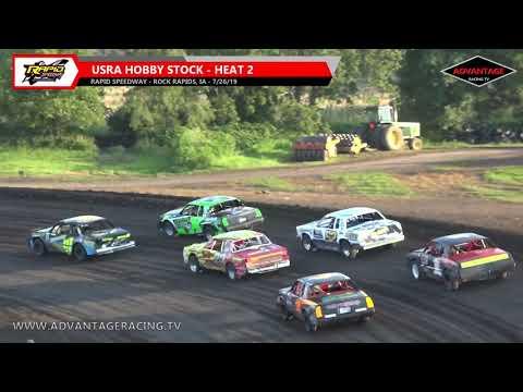 Sportsman/Hobby Stock Heats - Rapid Speedway - 7/26/19