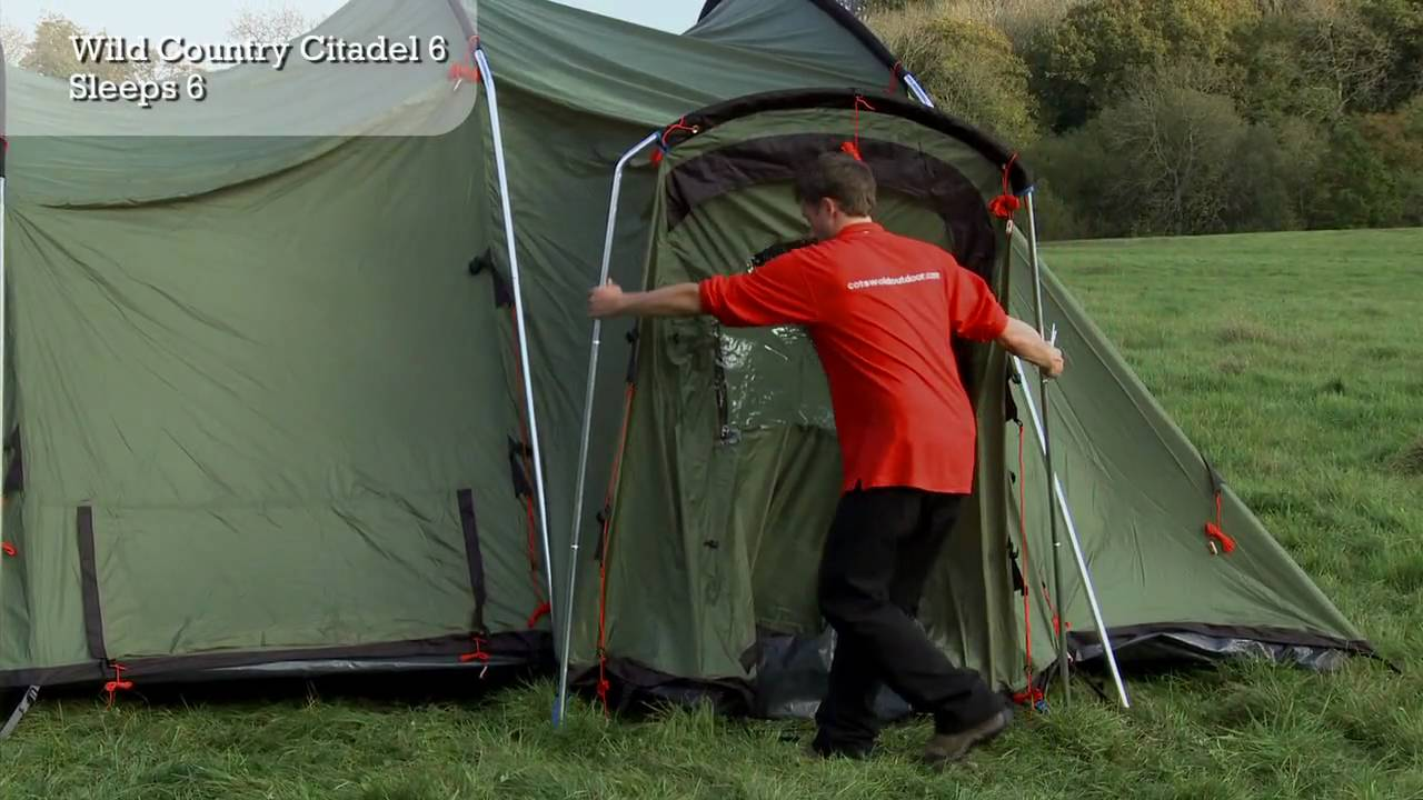 Wild Country Citadel 6 - Tent Pitching Video & Wild Country Citadel 6 - Tent Pitching Video - YouTube