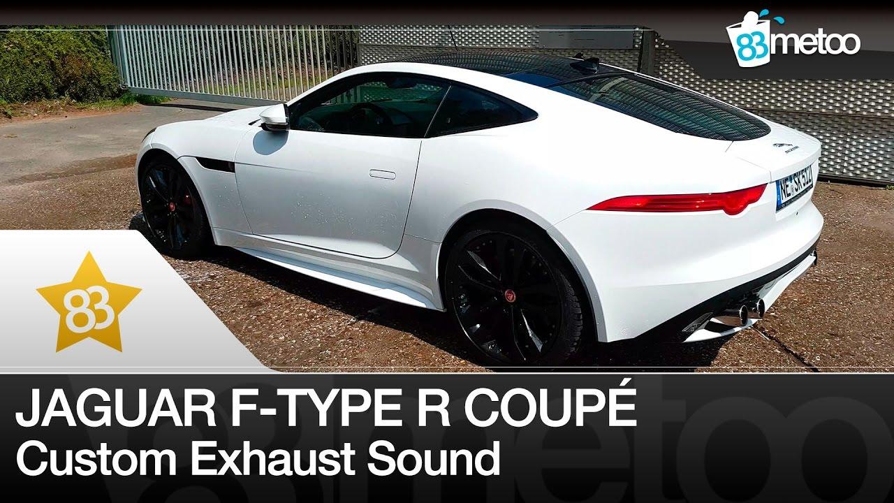 83metoo jaguar f type r coup sound custom exhaust youtube. Black Bedroom Furniture Sets. Home Design Ideas