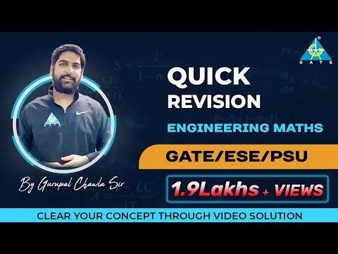 Quick Revision | Engineering Mathematics