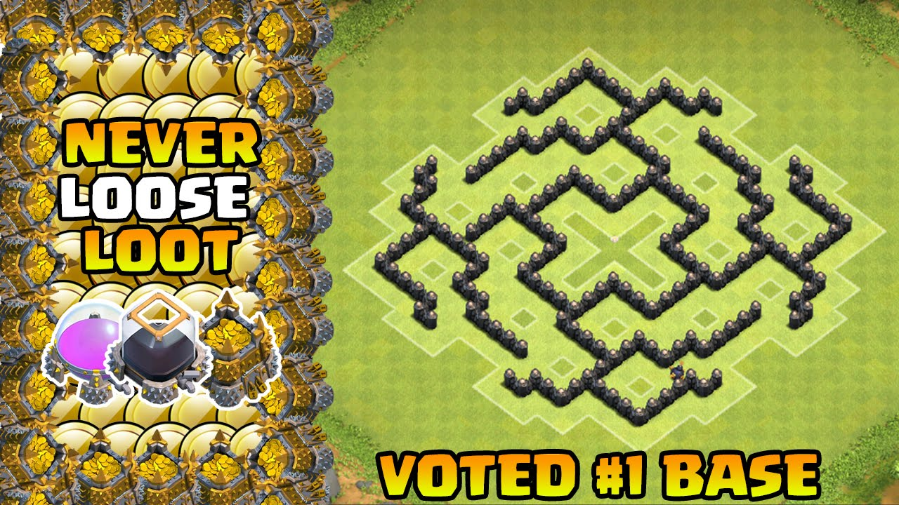 Clash Of Clans Th7 Farming Base Best Town Hall 7 Defense Strategy With Air Sweeper 2015 Youtube