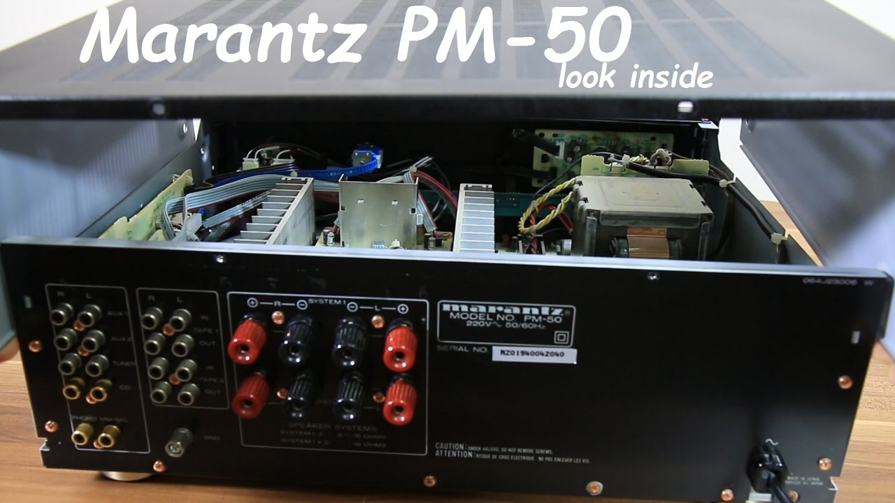 Marantz PM-50 Integrated Stereo Amplifier look inside + first look