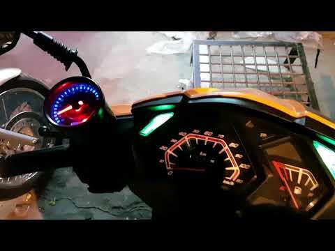 HONDA Dio Modification | RPM Meter addition, Bar end lights Graphics Designs