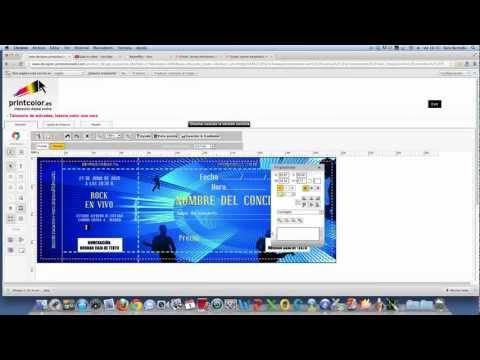Como diseñar talonarios de entradas en pocos pasos - YouTube - boletos de rifas para imprimir gratis