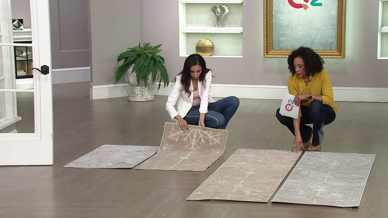 Inspire Me Home Decor Snowflake Shimmer Rugs On Qvc Youtube