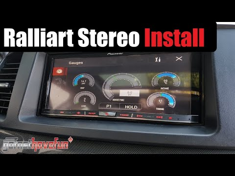 Builds: 2010 Mitsubishi Lancer Ralliart Head Unit Upgrade | AnthonyJ350