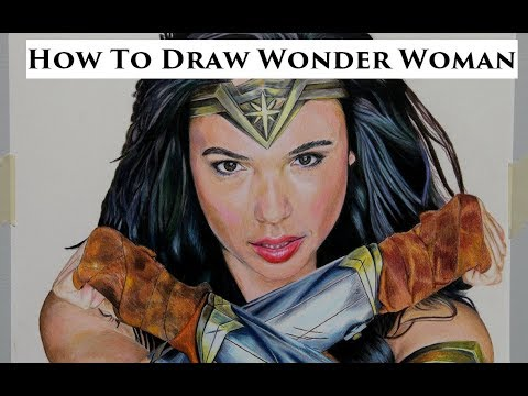 How to Draw Wonder Woman (Gal Gadot) using Prismacolor Premier Colored Pencils