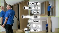 HOW TO Disassemble Argos New Hallingford 3 Door Sliding Wardrobe wardrobe