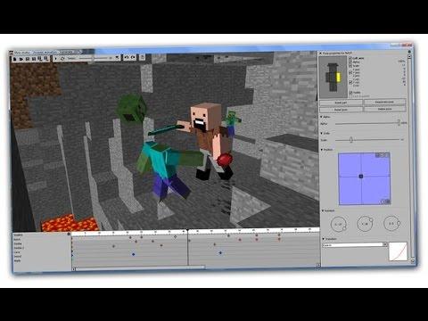 Как сделать анимацию майнкрафт в mine imator