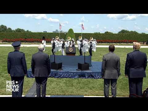 WATCH: Trump attends
