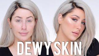 Dewy Skin + Freckles Glam Makeup Tutorial