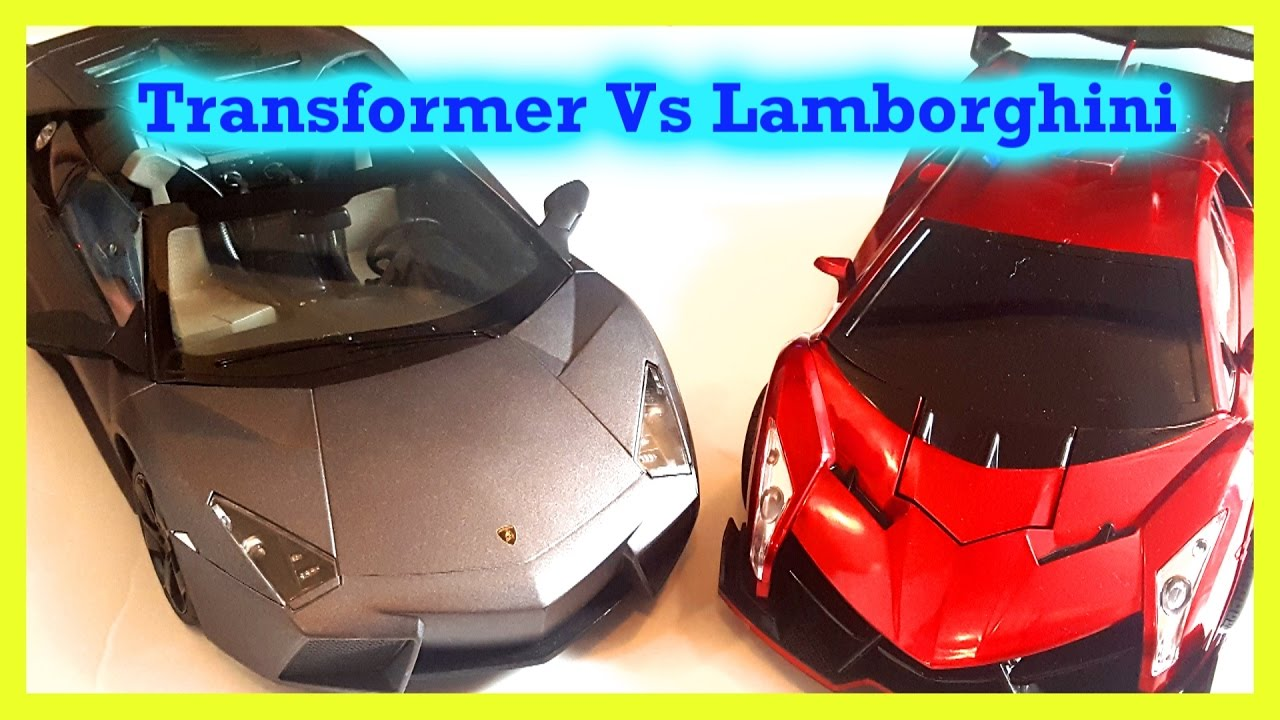 Transformer Vs Lamborghini Sports Cars Kids Toys Boys