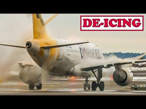 Aircraft De-Icing At Helsinki Airport