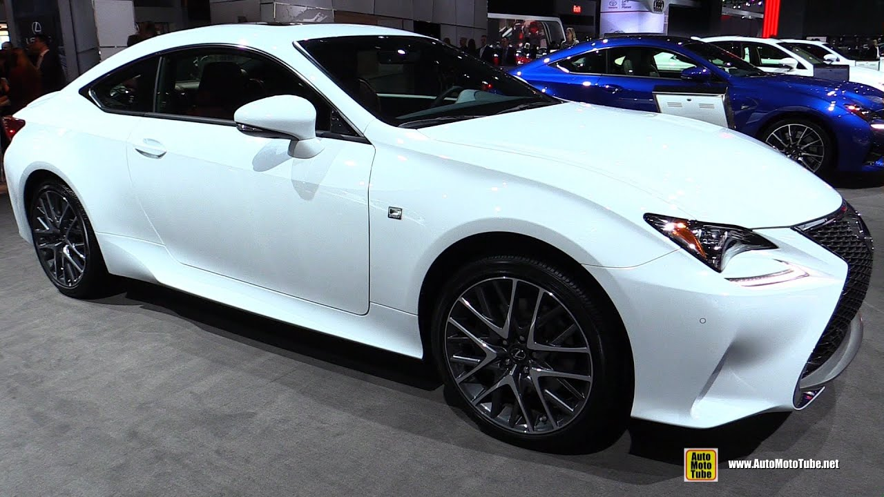 2016 Lexus RC350 F Sport AWD   Exterior And Interior Walkaround   2016 New  York Auto Show   YouTube