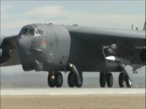 B-52 Deploys X-51 Scramjet: Takeoff & Taxi