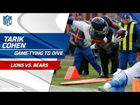 Tarik Cohen's Game-Tying TD Dive vs. Detroit! | Lions vs. Bears | NFL Wk 11 Highlights